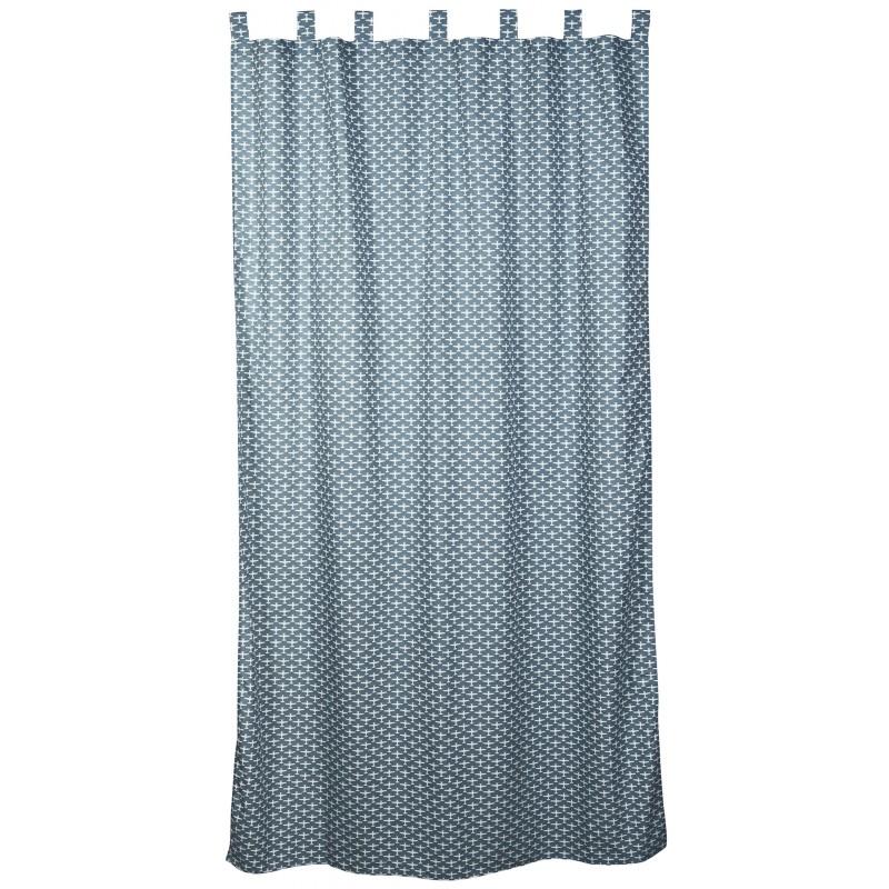 Taftan vorhang flugzeuge grau blau gardinen vorh nge for Vorhang kinderzimmer blau