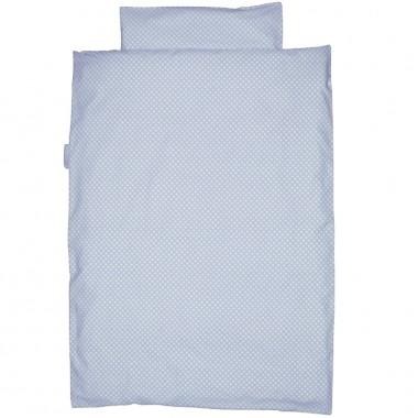 taftan bettw sche polka dots punkte blau 100x135cm bettw sche jungen jugendzimmer kidz biz. Black Bedroom Furniture Sets. Home Design Ideas