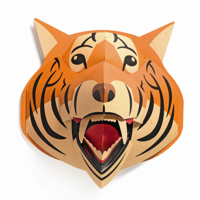 3d wandbild pop up troph e tiger dekoratives for 3d raumgestaltung