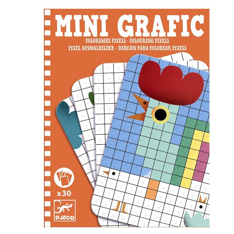Djeco Mini Grafik Pixels 6+ | Kinderspiele ab 6 + | Djeco Spiele ...