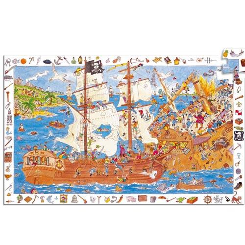 djeco puzzle piraten 5 puzzle 5 9 jahre puzzle spielzeug kidz biz. Black Bedroom Furniture Sets. Home Design Ideas