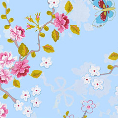 pip studio tapete chinese rose blue 386031 blumen. Black Bedroom Furniture Sets. Home Design Ideas